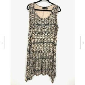 Rachel Zoe Ikat Print Rayon Sleeveless Tank Dress
